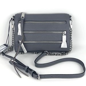 Rebecca Minkoff Grey Mini 5 Zip Bag
